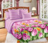 Перкаль ткань Тюльпаны осн. 1 роз. дубл.,рис.195221