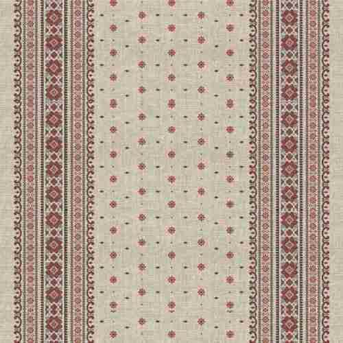 Ткань рогожка арт.9484-1 Снежинка