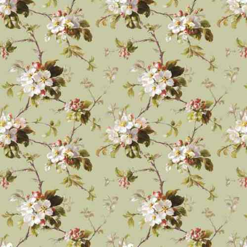 Ткань рогожка арт.18715-3 Яблоневый цвет зеленый
