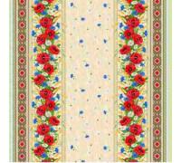 Ткань рогожка арт.18752-1 Маки