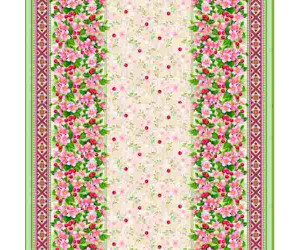 Ткань рогожка арт.18762-1 Вишневый цвет