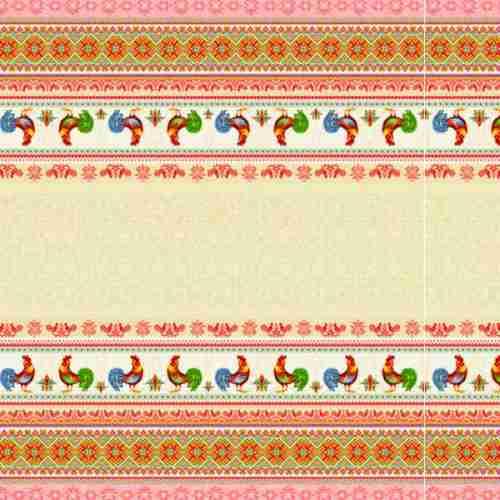 Ткань рогожка арт.18774-1 Петухи