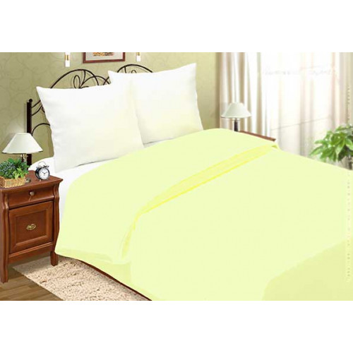 Ткань поплин однотонный цвет - нежно-желтый