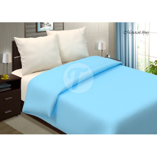 Ткань поплин однотонный цвет - голубой
