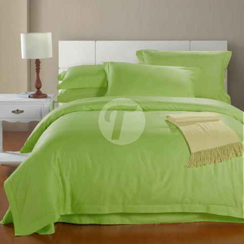 Сатин однотонный Премиум цвет - зеленый бутон