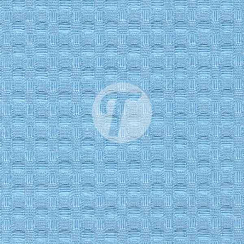 Вафельное полотно для халатов Премиум 150см - 240гр арт.41 - голубой (насыщ)